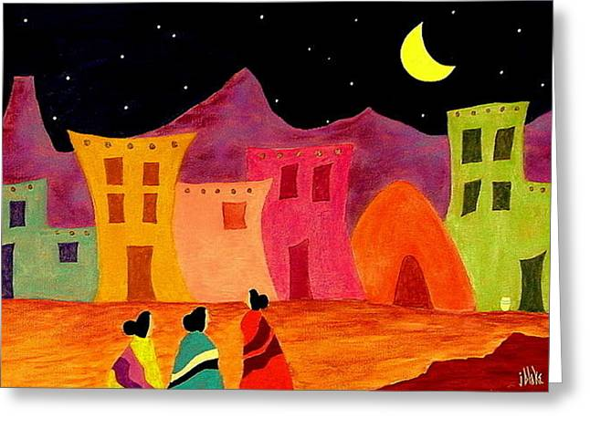 New Mexican Greeting Cards - Telling Secrets Greeting Card by John Blake