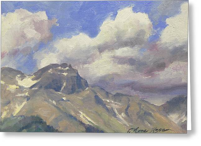 Telluride Clouds Greeting Card by Anna Rose Bain