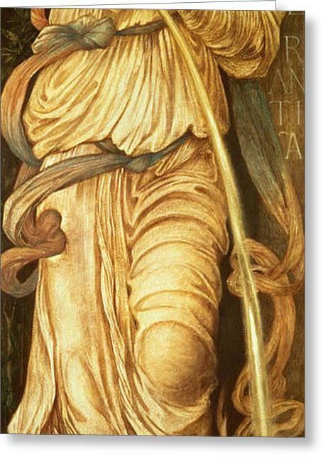 Temperantia, Greeting Card by Edward Coley Burne-Jones