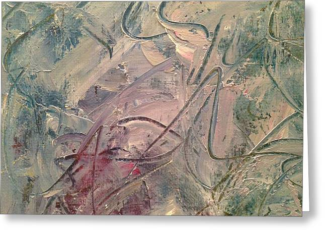 Faa Featured Paintings Greeting Cards - Tempered Textures - Detail Two Greeting Card by Marla McPherson