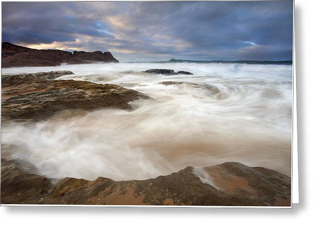 Tempestuous Sea Greeting Card by Mike  Dawson