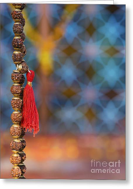 Prayer Beads Greeting Cards - Temple Japamala Greeting Card by Tim Gainey