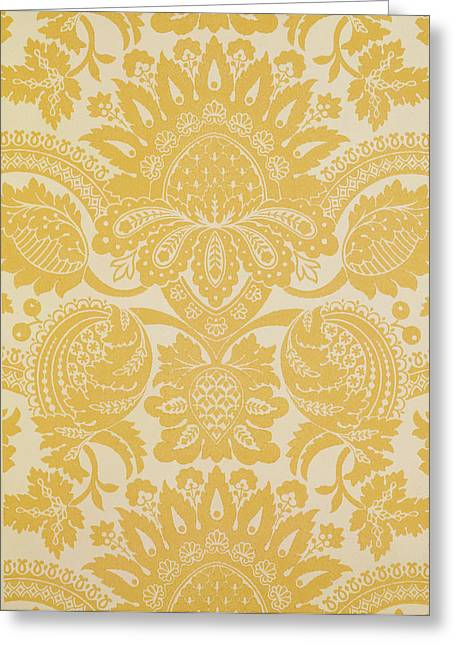 Tapestries Textiles Greeting Cards - Temple Newsam Greeting Card by Cole and Sons