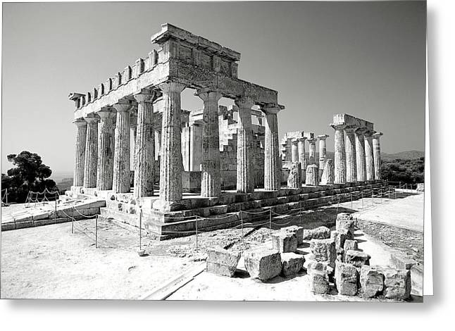 Temple Of Athena Greeting Cards - Temple of Afaia Athina Greeting Card by Manolis Tsantakis