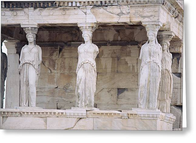 Temple Of Athena Nike Erectheum Greeting Card by Panoramic Images