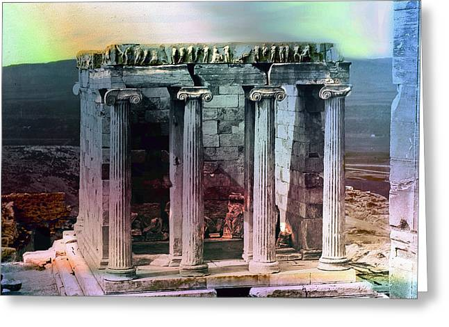 Temple Of Athena Greeting Card by Robert G Kernodle