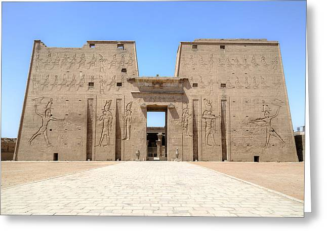 Luxor Greeting Cards - Temple of Edfu - Egypt Greeting Card by Joana Kruse