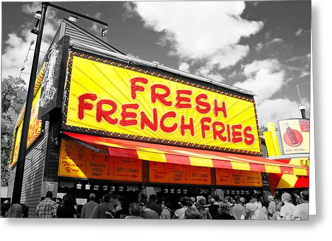 Temple Of Fries Greeting Card by Jim Hughes