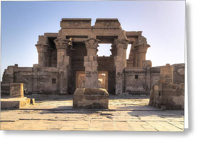 Horus Greeting Cards - Temple of Kom Ombo - Egypt Greeting Card by Joana Kruse