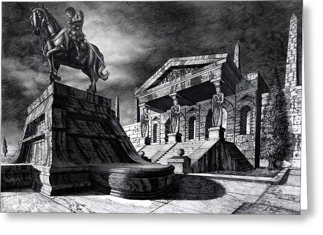 Ancient Greek Art Greeting Cards - Temple of Perseus Greeting Card by Curtiss Shaffer