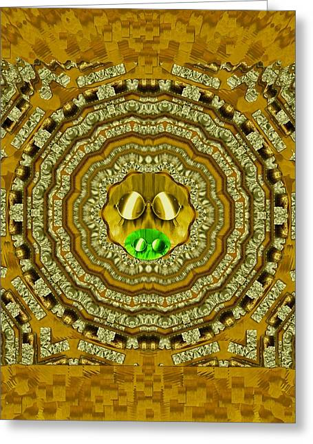 Temple Of Sunshine In The Northern Lights Greeting Card by Pepita Selles