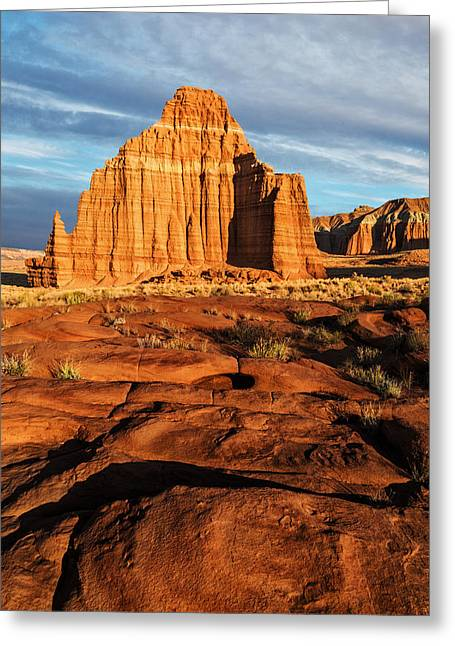 Monolith Greeting Cards - Temple Of The Moon Greeting Card by Alex Mironyuk