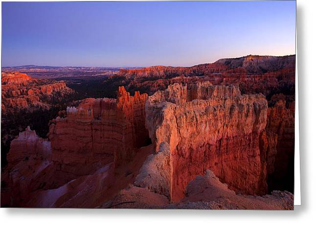 Desert Photographs Greeting Cards - Temple of the setting sun Greeting Card by Mike  Dawson