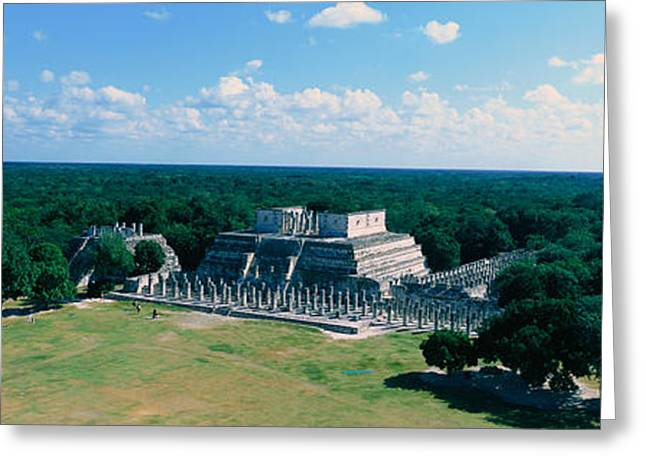 Period Greeting Cards - Temple Of The Warriors At Chichen-itza Greeting Card by Panoramic Images