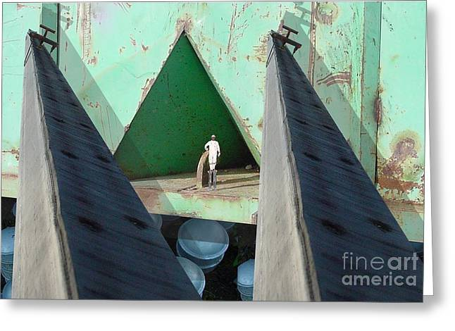 Abstract Digital Greeting Cards - Temple Greeting Card by Ron Bissett