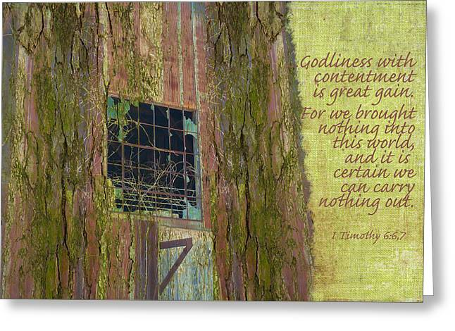 Moss Greeting Cards - Temporary Treasure Greeting Card by Larry Bishop