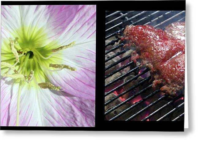 Grill Greeting Cards - Temptation 1 Greeting Card by James W Johnson