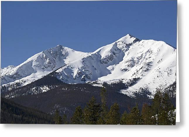 Peak One Greeting Cards - Ten Mile Peak aka Peak One Colorado Greeting Card by Brendan Reals