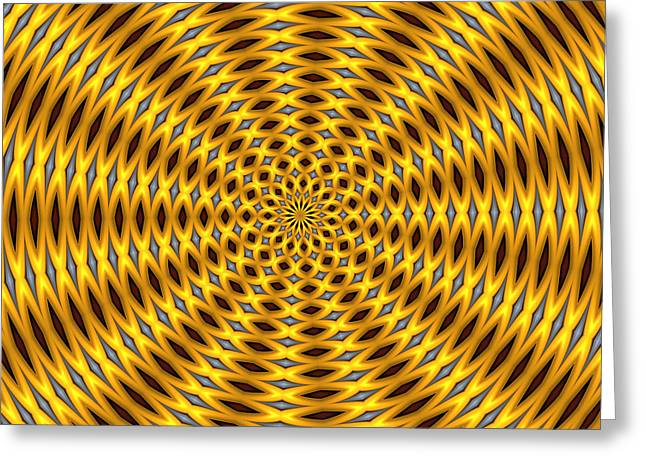 Optical Art Greeting Cards - Ten Minute Art 2 Greeting Card by David Lane