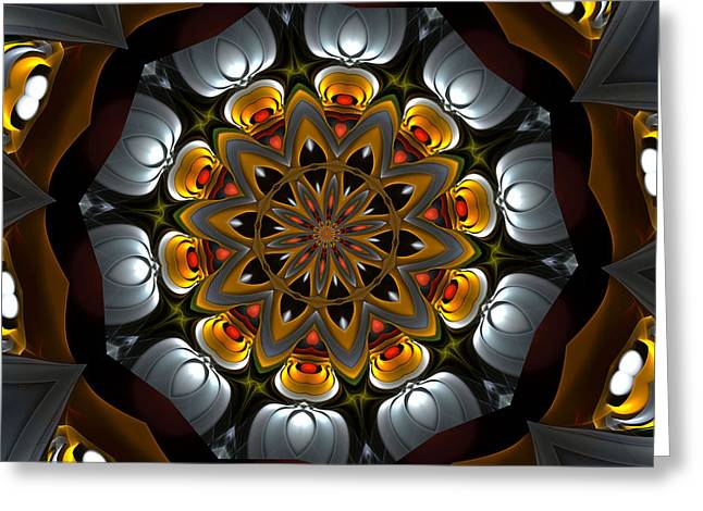 Optical Art Greeting Cards - Ten Minute Art 3 Greeting Card by David Lane