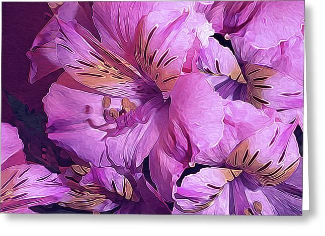 Tender Lilies Three No. 15 Greeting Card by Lynda Lehmann