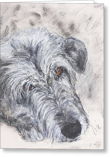 Hound Pastels Greeting Cards - Tender Moments Greeting Card by Cori Solomon