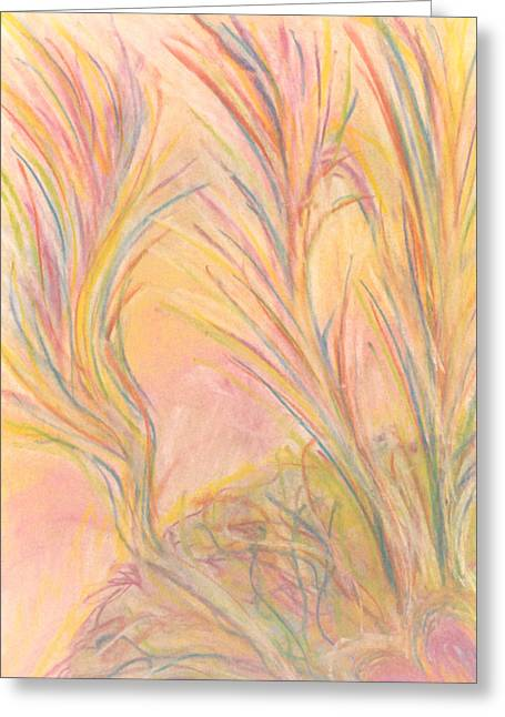 Sec Drawings Greeting Cards - Tendre Bercail  Greeting Card by Hatin Josee