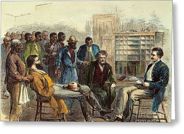 1866 Greeting Cards - Tenn: Freedmens Bureau Greeting Card by Granger