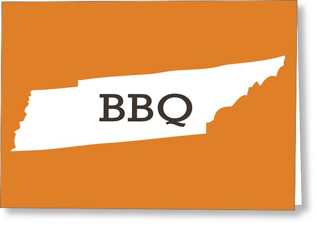 Tennessee Bbq Greeting Card by Nancy Ingersoll