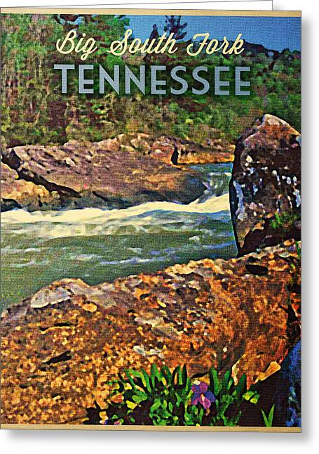Tennessee River Digital Greeting Cards - Tennessee Big South Fork Greeting Card by Flo Karp