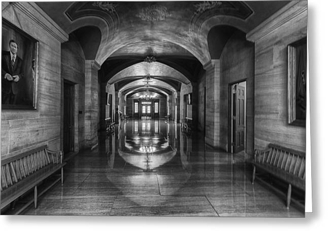 Nashville Tennessee Greeting Cards - Tennessee Capital Hallway Greeting Card by Mike Burgquist