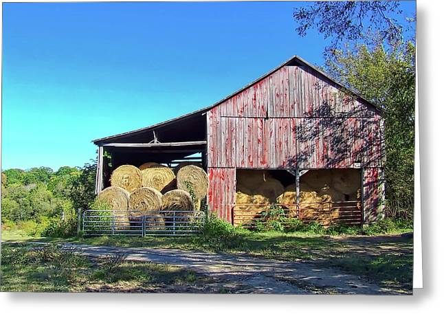 Tennessee Hay Barn Greeting Card by Richard Gregurich