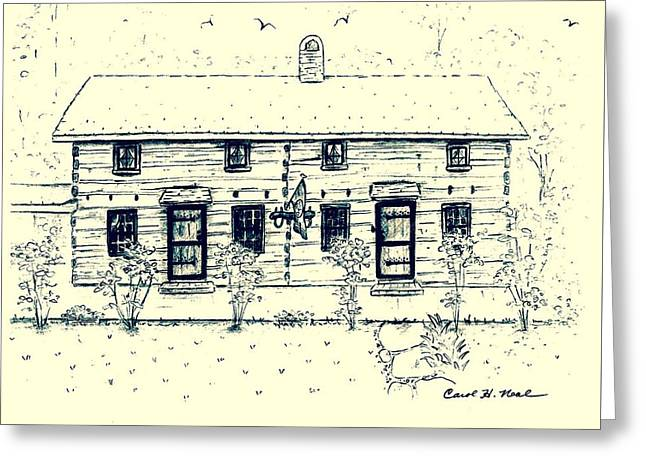 Tennessee Drawings Greeting Cards - Tennessee Homestead Greeting Card by Carol Neal