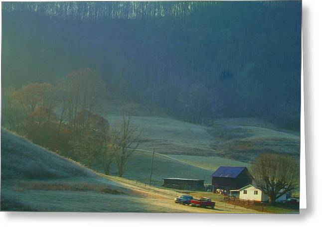 Tennessee Farm Greeting Cards - Tennessee Morning.. Greeting Card by Al  Swasey