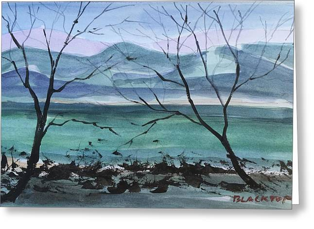 Tennessee River Paintings Greeting Cards - Tennessee River  Greeting Card by Ken  Blacktop  Gentle