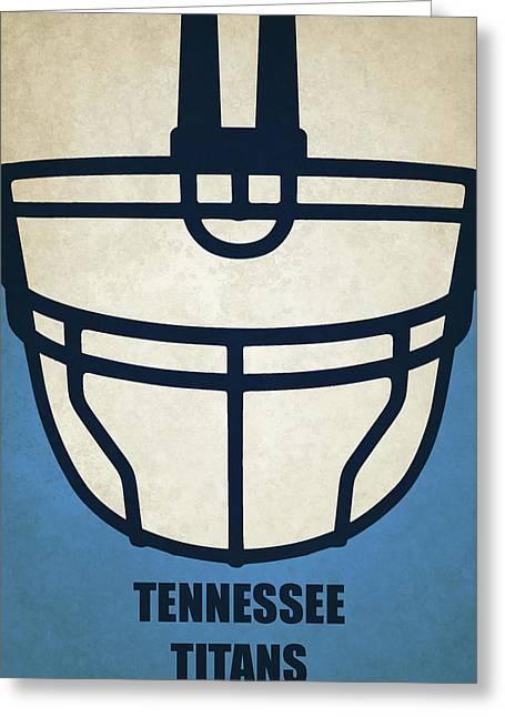 Tennessee Titans Helmet Art Greeting Card by Joe Hamilton