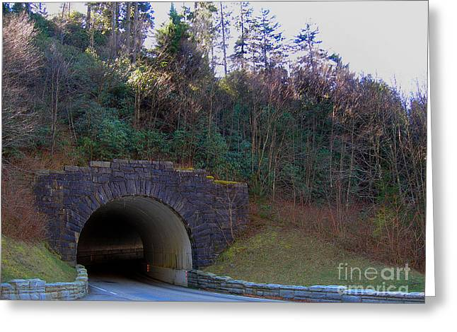 Covered Bridge Greeting Cards - Tennessee Tunnel Greeting Card by Skip Willits