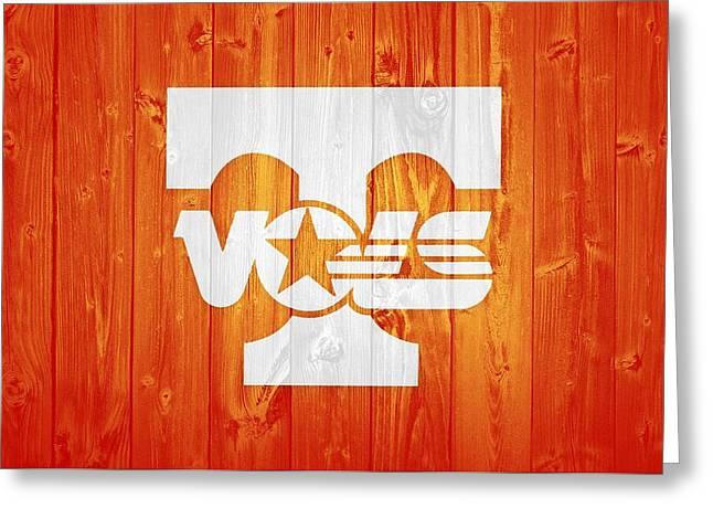 Tennessee Volunteers Barn Door Greeting Card by Dan Sproul