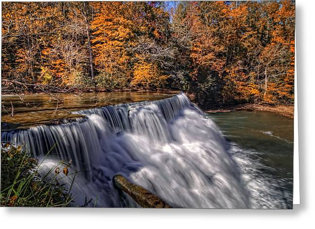 Tennessee River Greeting Cards - Tennessee Waterfall Greeting Card by Van Sutherland