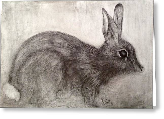 Tennessee Drawings Greeting Cards - Tennessee Wildlife Cottontail Rabbit Greeting Card by Annamarie Sidella-Felts