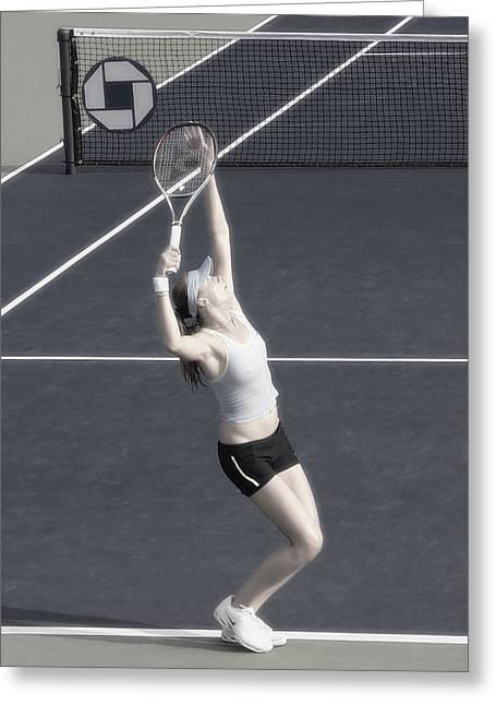 Women Tennis Greeting Cards - Tennis Art- Daniela Hantuchova Greeting Card by Steven Sparks