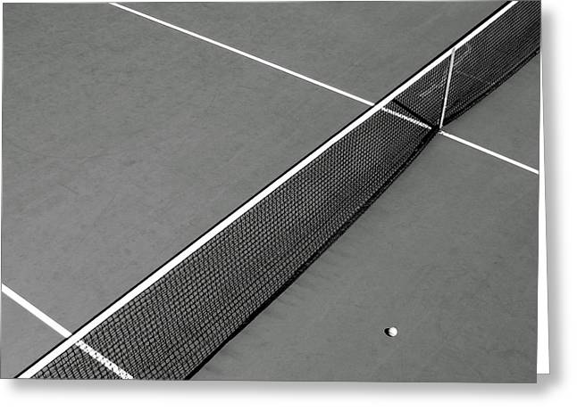 Tennis Court Greeting Card by Olivier Le Queinec