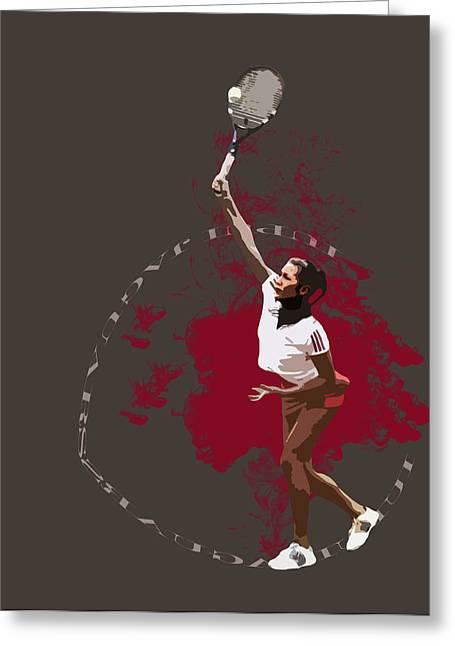 Women Tennis Greeting Cards - Tennis Greeting Card by David Haskett