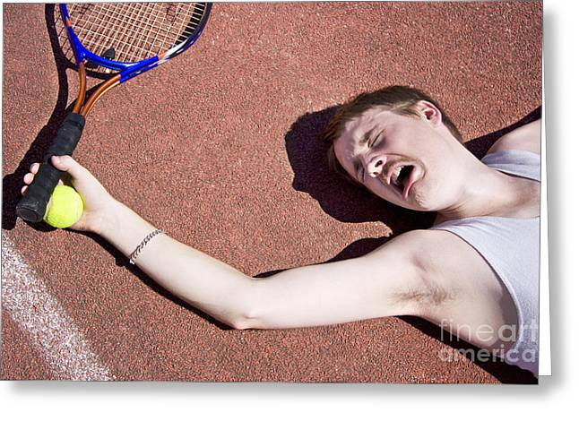 Tennis Elbow Greeting Card by Jorgo Photography - Wall Art Gallery
