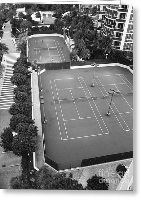 Tennis Match Greeting Cards - Tennis Match Miami 2011 Greeting Card by Jason Freedman