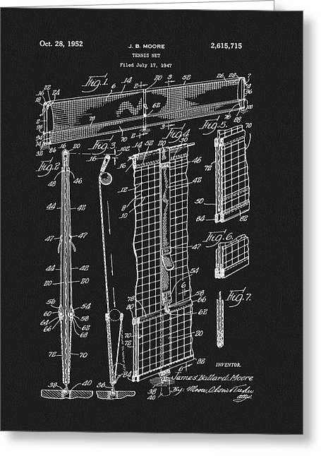 Tennis Net Patent Greeting Card by Dan Sproul