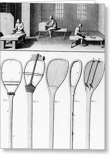 Tennis Rackets Greeting Card by French School