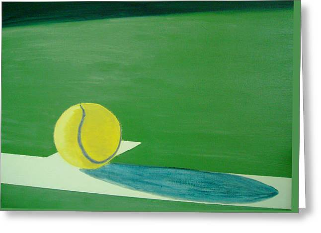 French Open Paintings Greeting Cards - Tennis Reflections Greeting Card by Ken Pursley