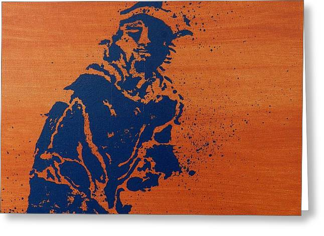 French Open Paintings Greeting Cards - Tennis Splatter Greeting Card by Ken Pursley