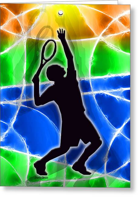 Volley Greeting Cards - Tennis Greeting Card by Stephen Younts